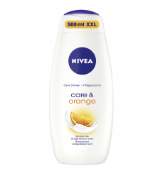 DUŠAS ŽELEJA NIVEA 500ML CARE & ORANGE