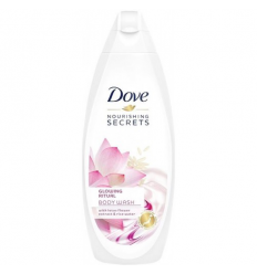 DUŠAS ŽELEJA DOVE 250ML NOURISHING SECRETS GLOW-LOTUS