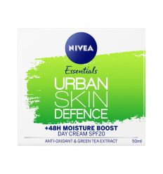 SEJAS KRĒMS NIVEA URBAN SKIN DEFENCE DAY CREAM SPF20, 50 ML