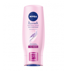 KONDICIONIERIS NIVEA HAIRMILK 200ML NATURAL SHINE PĪDUMU PIEŠĶIROŠS