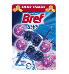TUALETES TĪRĪTĀJS UN ATSVAIDZINĀTĀJS BREF BLUE AKTIV FRESH FLOWERS 2X50 G