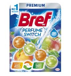 TUALETES TĪRĪTĀJS-ATSVAIDZINĀTĀJS BREF WC PERFUME SWITCH PEACH-RED APPLE, 50 G