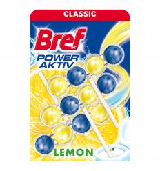 BREF POWER ACTIVE LEMON 3X50 G TUALETES TĪRĪTĀJS UN ATSVAIDZINĀTĀJS