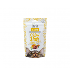 SNACK BRIT CARE SHINY HAIR 50G KAĶIEM