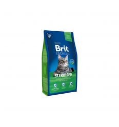 BRIT PREMIUM CAT STERILIZED 8KG KAĶIEM