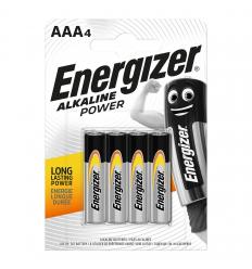 BATERIJAS ENERGIZER AAA, LR03, 4 GAB.