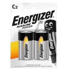 BATERIJAS ENERGIZER C, LR14, 2 GAB.