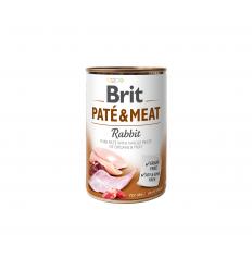 BRIT CARE RABBIT PATE&MEAT KONSERVĒTS 400G SUŅIEM