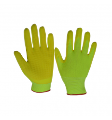 Pirkstaini cimdi ar lateksa putu pārklājumu, izmērs 9 2330Y